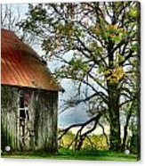 At The Barn Acrylic Print by Julie Dant