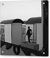 At The Beach - Monochrome Acrylic Print