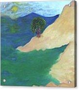 At The Beach Acrylic Print by Corina Bishop