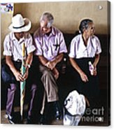 At The Bus Station Acrylic Print