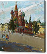 At The Cathedral Of Vasily The Blessed Acrylic Print