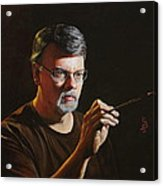At The Easel Self Portrait Acrylic Print