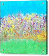 At The Edge Of The Field Acrylic Print