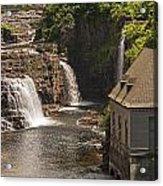 At The Falls In Ausable Ny Acrylic Print