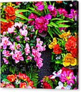At The Flower Market  Acrylic Print