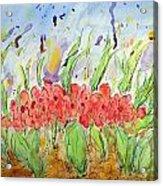 At The Garden Iv Acrylic Print