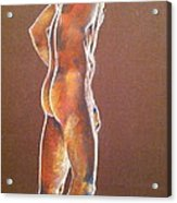At The Job Site Nude Acrylic Print