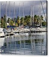 At The Marina Acrylic Print by    Michael Glenn