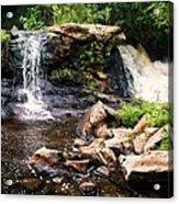 At The Mill Pond Dam Acrylic Print