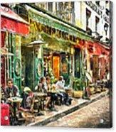 At The Restaurant In Paris Acrylic Print
