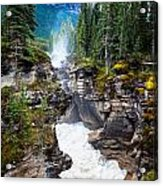 Athabasca Falls Acrylic Print by Chris Heitstuman