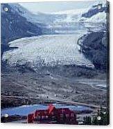 1m3734-athabasca Glacier W Original Icefields Chalet Acrylic Print