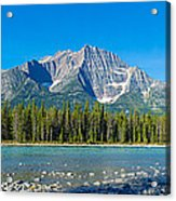 Athabasca River With Mountains Acrylic Print