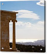 Athens And The Sea From The Acropolis Acrylic Print