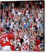 Atlanta Braves V Washington Nationals Acrylic Print