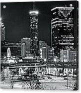 Atlanta Panoramic Black And White Acrylic Print