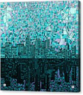 Atlanta Skyline Abstract 2 Acrylic Print