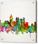 Atlanta Skyline Watercolor Acrylic Print