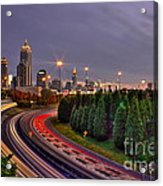 Atlanta Sundown Night Lights Art Acrylic Print
