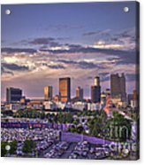Atlanta Sunset Fulton County Stadium Braves Game  Acrylic Print