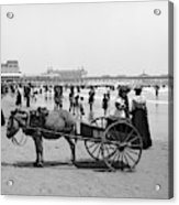 Atlantic City Beach, C1901 Acrylic Print