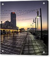 Atlantic City Boardwalk In The Morning Acrylic Print