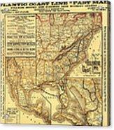 Atlantic Coast Line Railway Map 1885 Acrylic Print