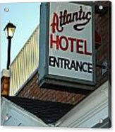 Atlantic Hotel Acrylic Print by Skip Willits