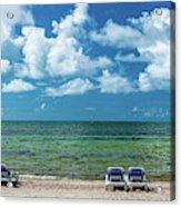 Atlantic Ocean At Smathers Beach In Key Acrylic Print