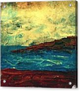 Atlantic Ocean Beach Scene Acrylic Print by Laura Carter