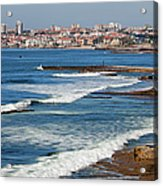 Atlantic Ocean Coast In Cascais And Estoril Acrylic Print