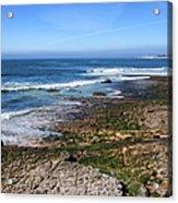 Atlantic Ocean Shore In Estoril Acrylic Print