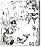 Atlantis Mermaids Acrylic Print