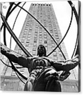 Atlas In Rockefeller Center Acrylic Print