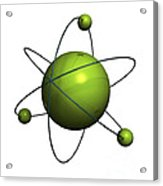 Atom Structure Acrylic Print