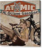 Atomic Gasoline Acrylic Print by Cinema Photography