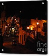 Atop Calle Hostos At Night Horizontal Acrylic Print