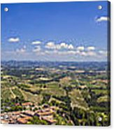 Atop The Bell Tower In San Gimignano Acrylic Print