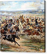Attack Of The Horse Regiment Acrylic Print by Victor Mazurovsky
