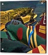 Attack On Battleship Row Acrylic Print