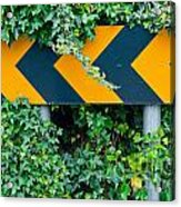 Attention Road Sign  Acrylic Print