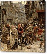 Atterdag Holding Visby To Ransom 1361 Acrylic Print