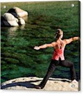 Attractive Woman Doing Yoga Acrylic Print