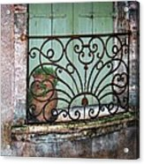 Au Balcon Acrylic Print