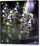 Aubergine Paris Wine Glasses Acrylic Print