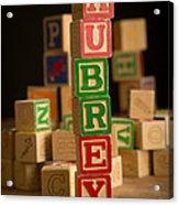 Aubrey - Alphabet Blocks Acrylic Print