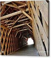 Auchumpkee Creek Covered Bridge Inside View Acrylic Print