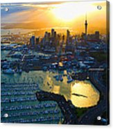 Auckland Oil On Canvaz Acrylic Print