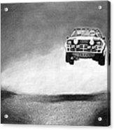 Audi Quattro Flying Acrylic Print