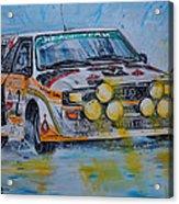 Audi Quattro On The Rocks Acrylic Print